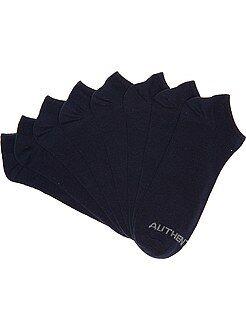 Chaussettes bleu - Lot de 4 paires de chaussettes invisibles