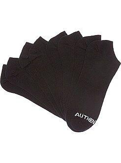 Chaussettes noir - Lot de 4 paires de chaussettes invisibles