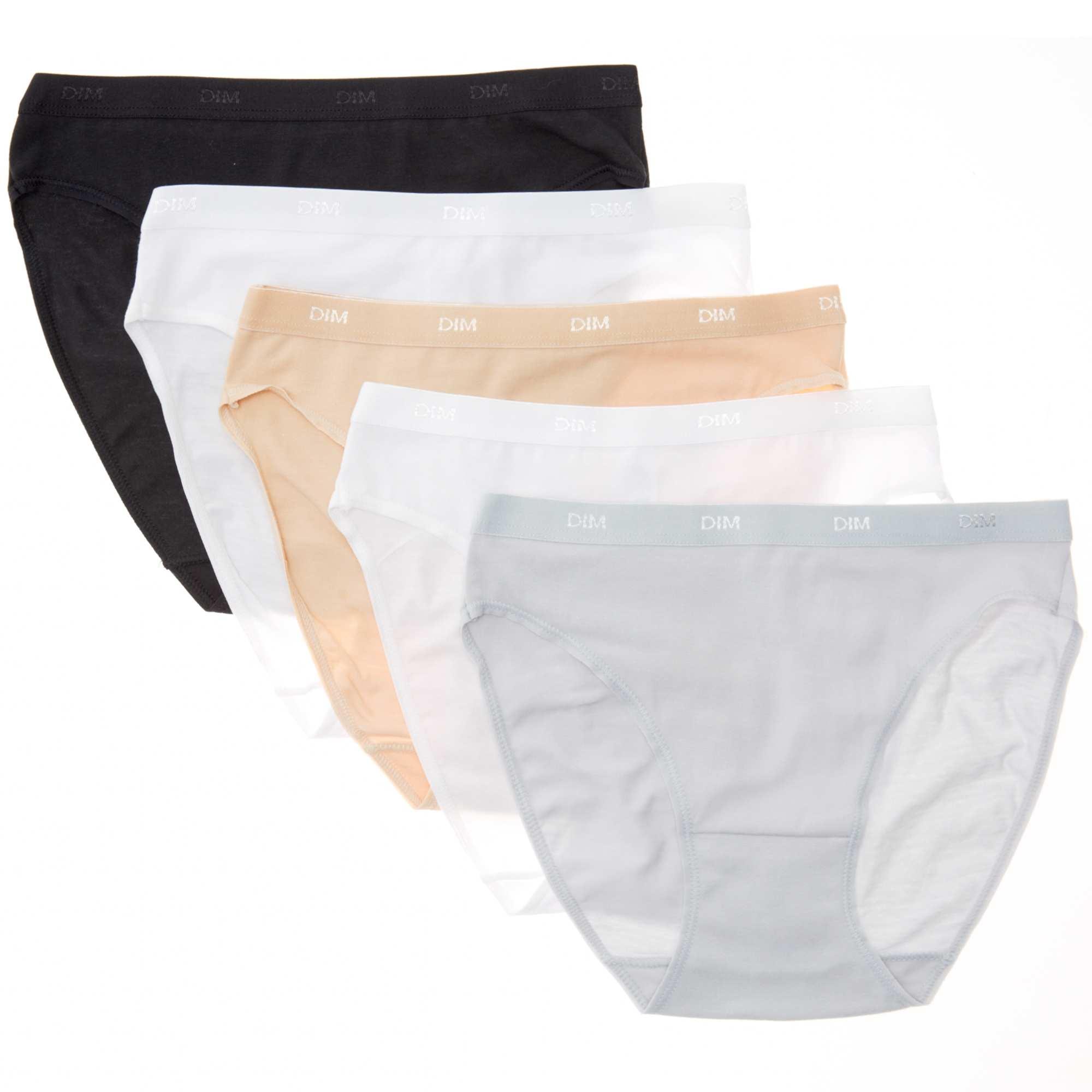 lot de 5 culottes coton stretch les pockets 39 dim 39 lingerie. Black Bedroom Furniture Sets. Home Design Ideas