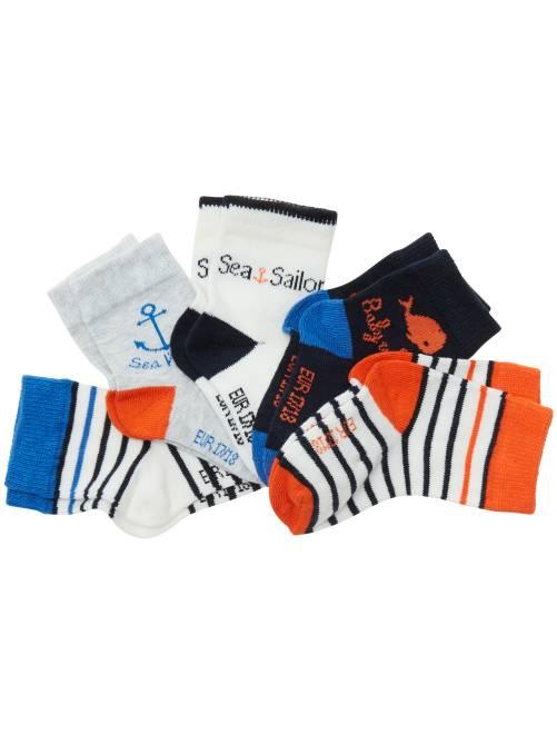 Lot de 5 paires de chaussettes animaux bleu Bébé fille