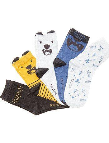 Garçon 3-12 ans - Lot de 5 paires de chaussettes fantaisie - Kiabi