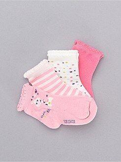 Fille 0-36 mois Lot de 5 paires de chaussettes 'girafe'