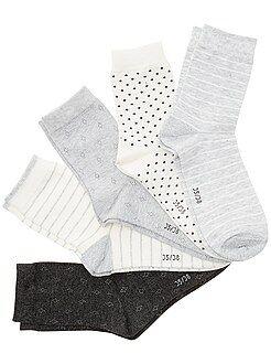 Fille 3-12 ans Lot de 5 paires de chaussettes