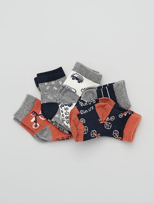 Lot de 5 paires de chaussettes                                                                                                                             gris/vélo