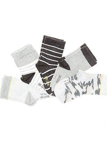 Lot de 5 paires de chaussettes imprimées - Kiabi