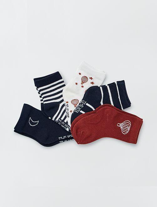 Lot de 5 paires de chaussettes                                                                                                                             mne/blc