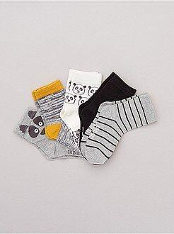 Chaussettes - Lot de 5 paires de chaussettes motifs fantaisie
