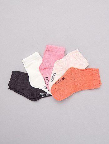 Fille 0-36 mois - Lot de 5 paires de chaussettes - Kiabi