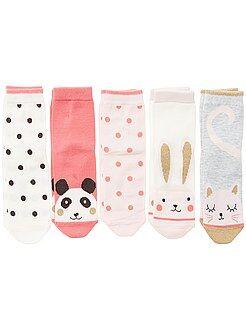Collants, chaussettes - Lot de 5 paires de chaussettes - Kiabi