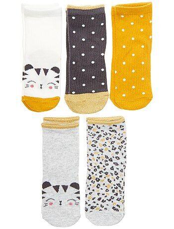 Lot de 5 paires de chaussettes 'tigre' - Kiabi