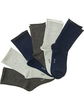 Lot de 6 paires de chaussettes                                                         bleu/gris Lingerie du s au xxl
