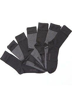 Homme du S au XXL Lot de 7 paires de chaussettes