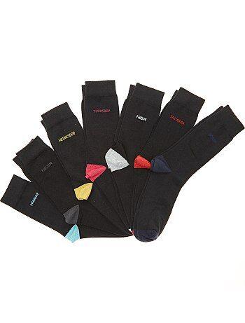 Lot de 7 paires de chaussettes semainier - Kiabi