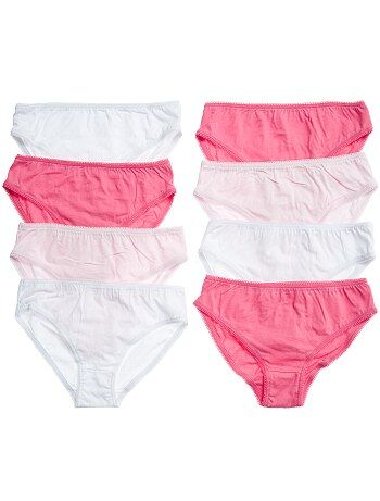 Lot de 8 culottes unies - Kiabi
