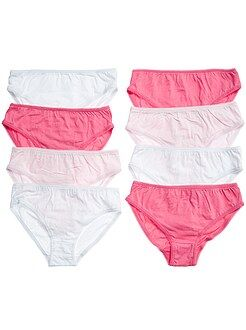 Lot de 8 culottes unies