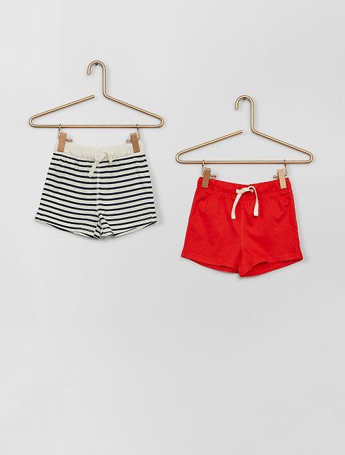 Lot de shorts                                                                 rouge