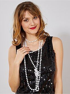 Charleston 20's - Lots de 2 sautoirs à perles - Kiabi