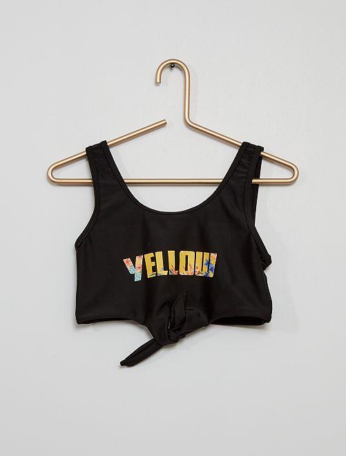 Maillot de bain 2 pièce  'yellow'                             noir/jaune