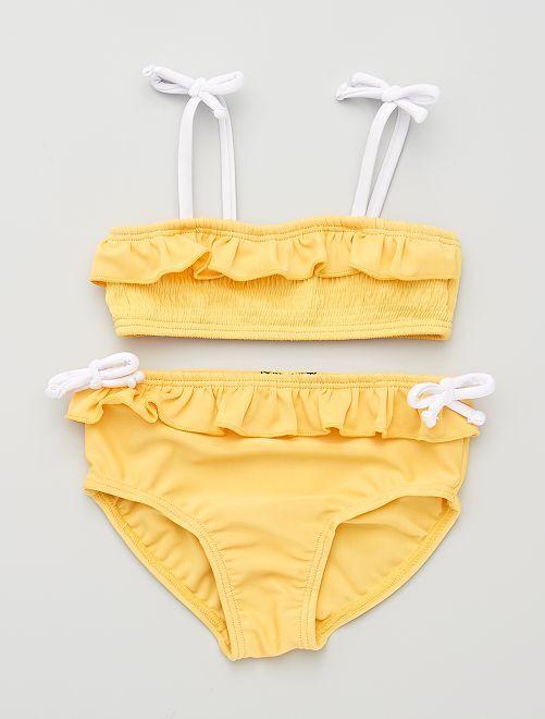Maillot de bain 2 pièces                             jaune