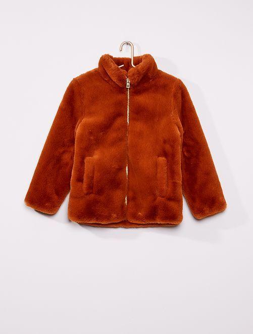 Manteau en fausse fourrure                     orange