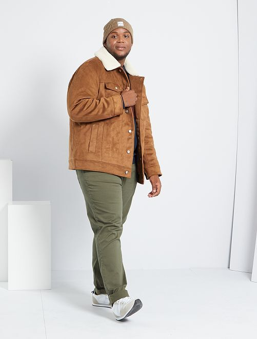 Manteau en suédine                             marron