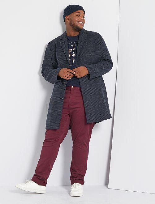 Manteau esprit lainage                             gris/carreaux