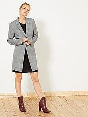 Manteau léger à carreaux