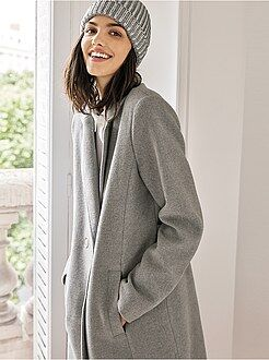 Manteau, veste - Manteau long tissu lainé