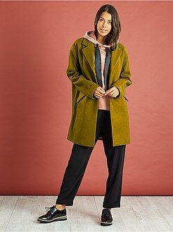 Manteau, veste - Manteau oversize avec laine