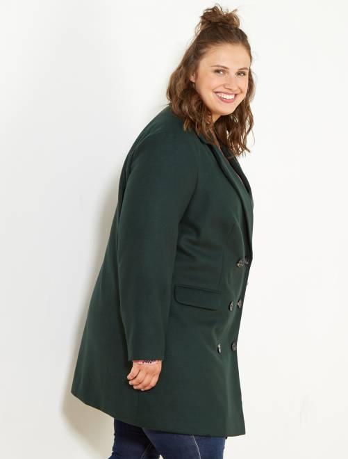 manteau style caban grande taille femme vert kiabi 50 00. Black Bedroom Furniture Sets. Home Design Ideas