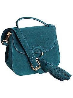 Accessoires vert - Mini sac aspect suédine