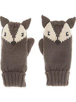 Accessoire - Moufles en maille tricot