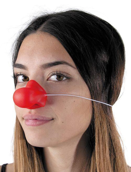 Nez rouge de clown en silicone                             rouge