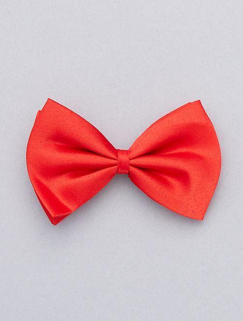 Noeud papillon uni                                                                             rouge Accessoires