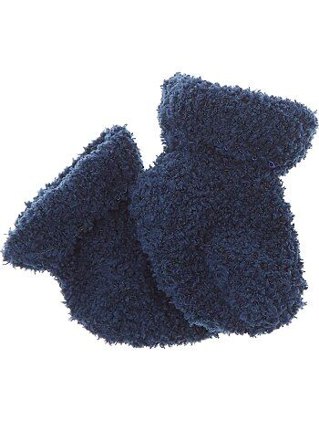 Paire de chaussettes chaussons unies - Kiabi