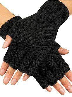 Accessoires noir - Paire de mitaines en tricot