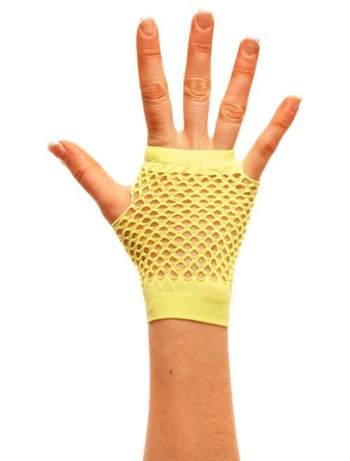 Paire de mitaines résille                                                                              jaune Accessoires