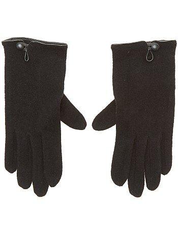 Paires de gants unis - Kiabi