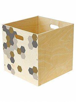 Rangement - Panier de rangement en bois imprimé