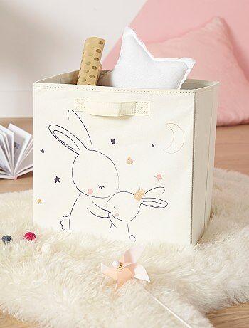 Panier de rangement en intissé imprimé 'lapins' - Kiabi
