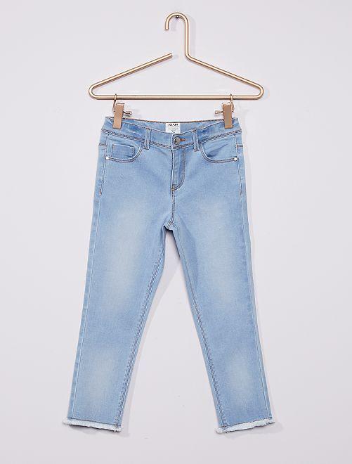 Pantacourt skinny en coton stretch éco-conçu                                                     bleu