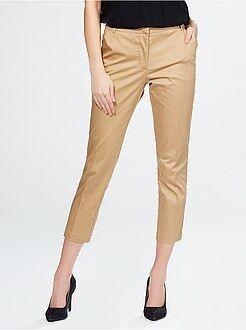 Pantalon 7/8ème - Pantalon 7/8 ème en satin de coton