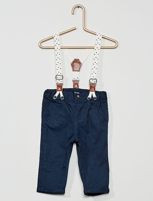Pantalon à bretelles                                         marine
