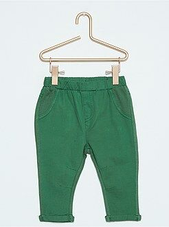 Garçon 0-36 mois Pantalon bimatière twill et molleton