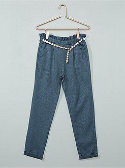 Pantalon - Pantalon brillant en gabardine - Kiabi
