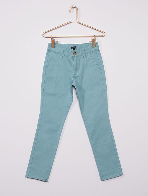 Pantalon chino éco-conçu                                                                                         bleu