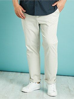 Pantalon chino - Pantalon chino en twill coupe droite