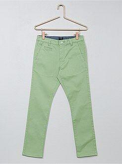 Pantalon chino en twill coupe slim - Kiabi