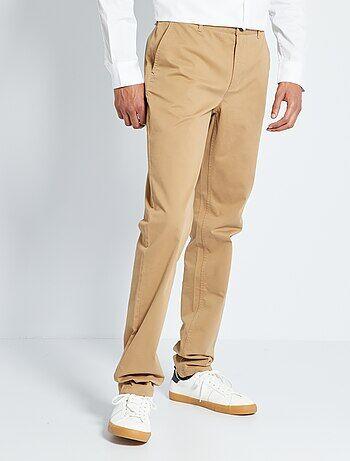 Homme du S au XXL - Pantalon chino fitted L38 +1m90 - Kiabi