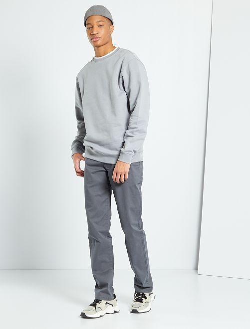 Pantalon chino L38 +1m95                                         gris